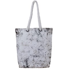 Grunge Pattern Full Print Rope Handle Tote (small)