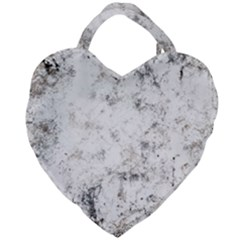 Grunge Pattern Giant Heart Shaped Tote