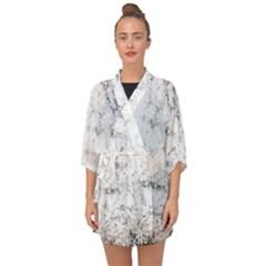 Grunge Pattern Half Sleeve Chiffon Kimono