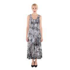 Grunge Pattern Sleeveless Maxi Dress