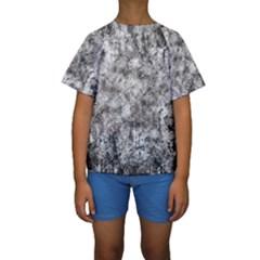Grunge Pattern Kids  Short Sleeve Swimwear