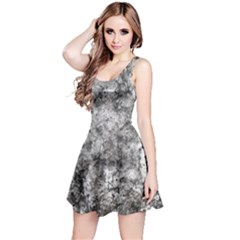 Grunge Pattern Reversible Sleeveless Dress