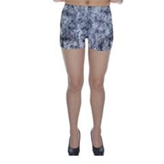 Grunge Pattern Skinny Shorts