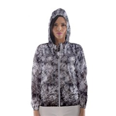 Grunge Pattern Hooded Wind Breaker (women)