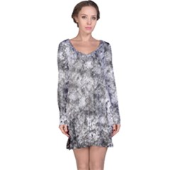 Grunge Pattern Long Sleeve Nightdress