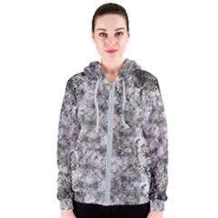 Grunge Pattern Women s Zipper Hoodie
