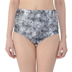 Grunge Pattern High Waist Bikini Bottoms