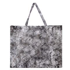 Grunge Pattern Zipper Large Tote Bag