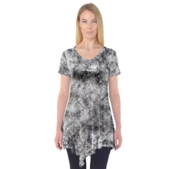 Grunge Pattern Short Sleeve Tunic
