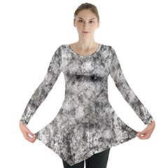 Grunge Pattern Long Sleeve Tunic