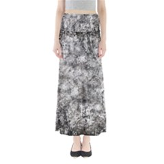 Grunge Pattern Full Length Maxi Skirt