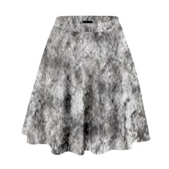Grunge Pattern High Waist Skirt