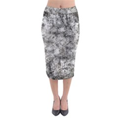 Grunge Pattern Midi Pencil Skirt