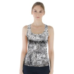 Grunge Pattern Racer Back Sports Top