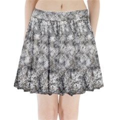 Grunge Pattern Pleated Mini Skirt