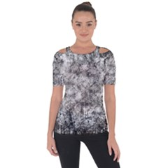 Grunge Pattern Short Sleeve Top