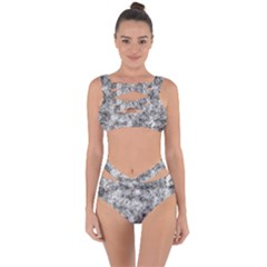 Grunge Pattern Bandaged Up Bikini Set