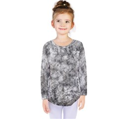 Grunge Pattern Kids  Long Sleeve Tee
