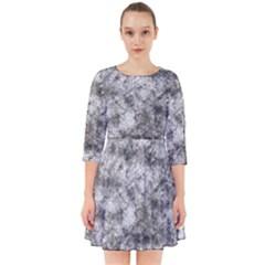 Grunge Pattern Smock Dress