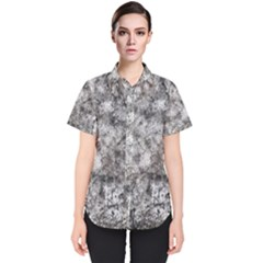 Grunge Pattern Women s Short Sleeve Shirt