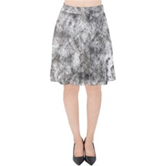 Grunge Pattern Velvet High Waist Skirt
