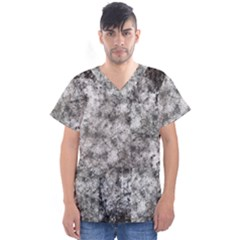 Grunge Pattern Men s V Neck Scrub Top