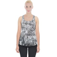 Grunge Pattern Piece Up Tank Top