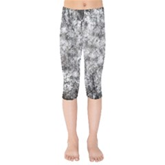 Grunge Pattern Kids  Capri Leggings