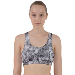 Grunge Pattern Back Weave Sports Bra
