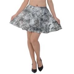 Grunge Pattern Velvet Skater Skirt