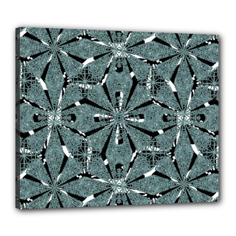 Modern Oriental Ornate Pattern Canvas 24  X 20