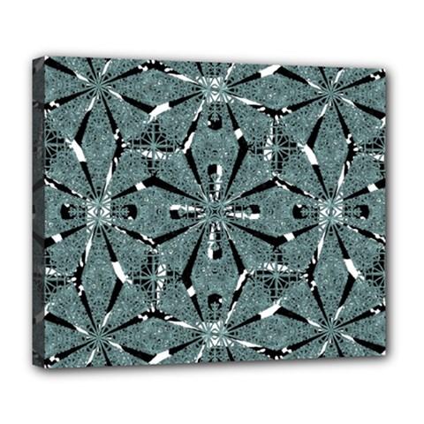 Modern Oriental Ornate Pattern Deluxe Canvas 24  X 20
