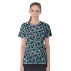 Modern Oriental Ornate Pattern Women s Cotton Tee