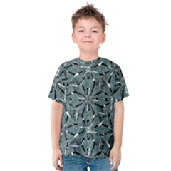 Modern Oriental Ornate Pattern Kids  Cotton Tee