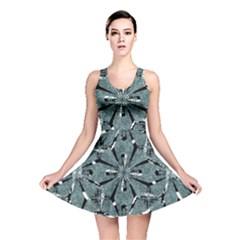 Modern Oriental Ornate Pattern Reversible Skater Dress