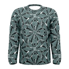 Modern Oriental Ornate Pattern Men s Long Sleeve Tee