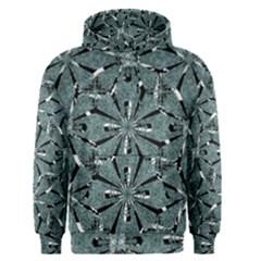 Modern Oriental Ornate Pattern Men s Pullover Hoodie