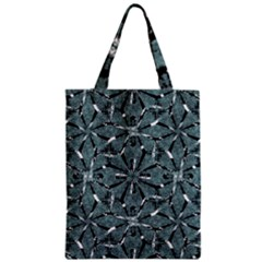 Modern Oriental Ornate Pattern Zipper Classic Tote Bag