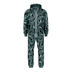 Modern Oriental Ornate Pattern Hooded Jumpsuit (kids)