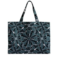 Modern Oriental Ornate Pattern Zipper Medium Tote Bag