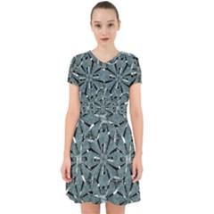 Modern Oriental Ornate Pattern Adorable In Chiffon Dress