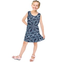 Modern Oriental Ornate Pattern Kids  Tunic Dress