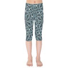 Modern Oriental Ornate Pattern Kids  Capri Leggings