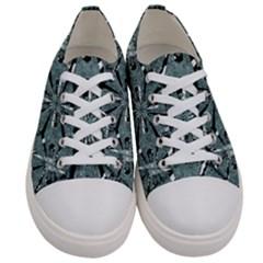 Modern Oriental Ornate Pattern Women s Low Top Canvas Sneakers