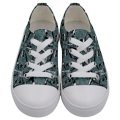 Modern Oriental Ornate Pattern Kids  Low Top Canvas Sneakers