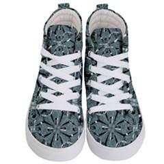 Modern Oriental Ornate Pattern Kid s Hi Top Skate Sneakers