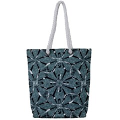 Modern Oriental Ornate Pattern Full Print Rope Handle Tote (small)
