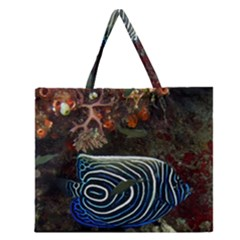 Angelfish 2 Zipper Large Tote Bag