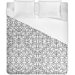 Black And White Ethnic Geometric Pattern Duvet Cover (california King Size)
