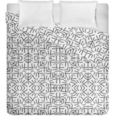 Black And White Ethnic Geometric Pattern Duvet Cover Double Side (king Size)